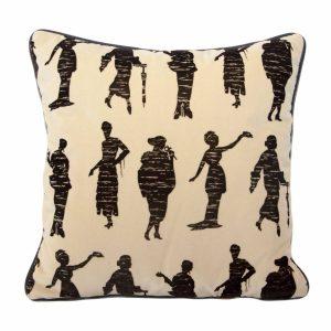 Society Ladies' Silouhette Velvet Cushion