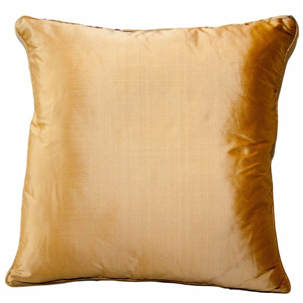 Gold Embroidered Cushion with plain back