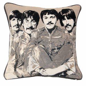 Black & White Beetles Cushion with plain back