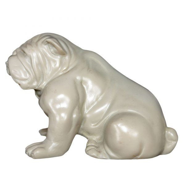 Faux Ivory Bull Dog