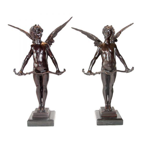 Pair of Bronze Cupids