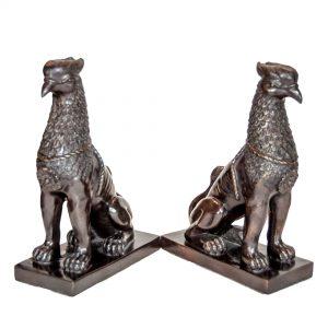 Pair of Bronze Griffins