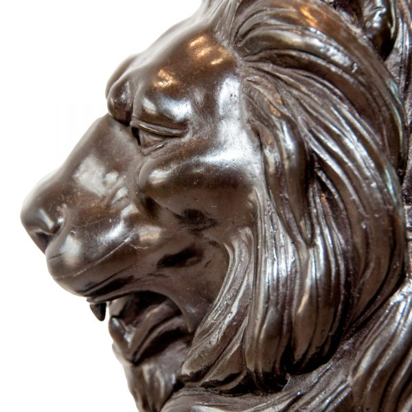 Pair of Bronze Lions