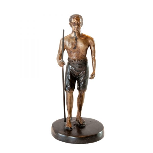 Bronze Painted Figure with Spear