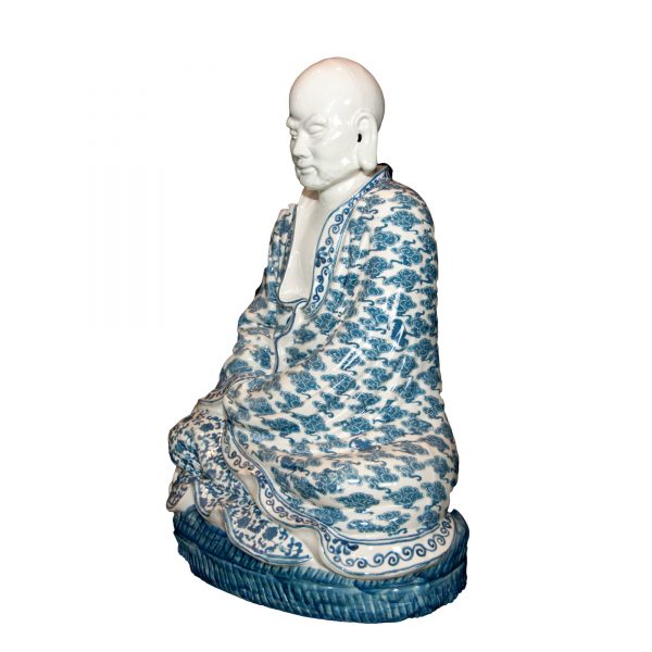 Blue and White Buddha