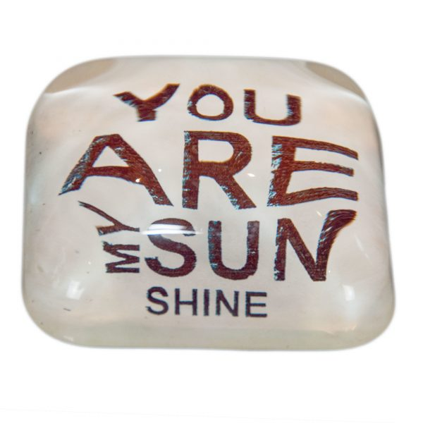 Glass 'You Are My Sunshine' Paperweight