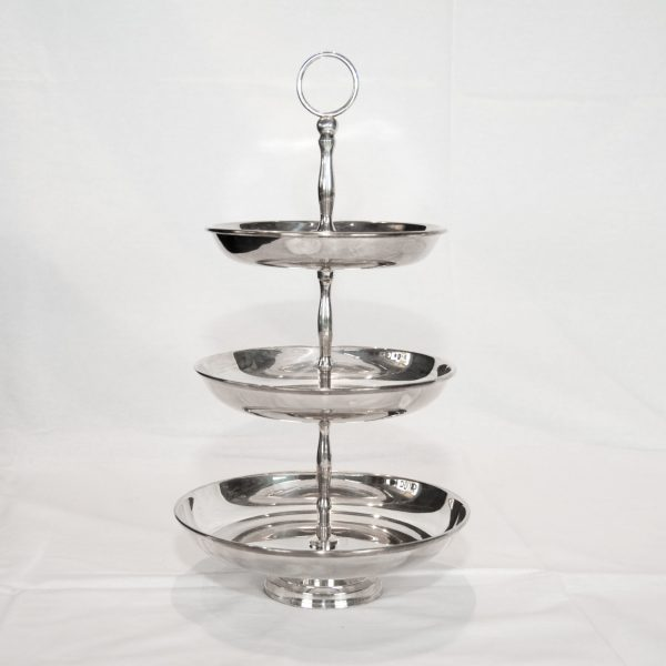 Silver Plated Three Tier Cake Stand