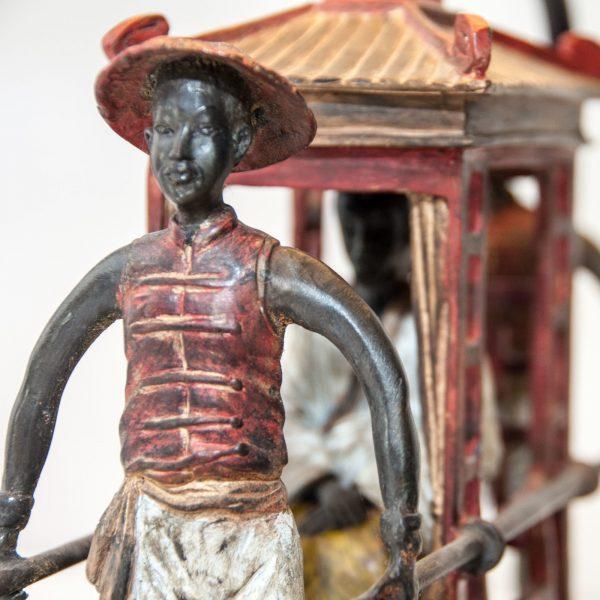 Palanquin Bronze Lamp
