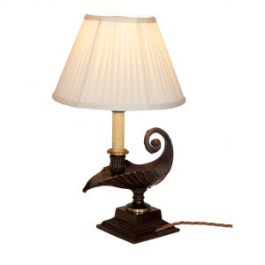Acanthus Bronze Candle Lamp