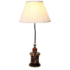 Sitting Woman on Brass Base Lamp
