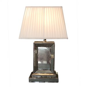 Detailed and Bevelled Antiqued Mirror Lamp Base
