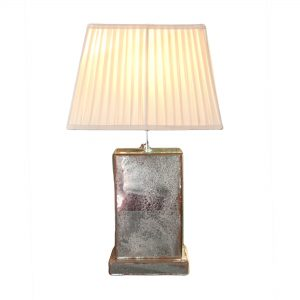 Plain Antiqued Mirror Lamp Base