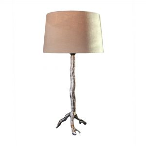 Nickel Twig Lamp Base