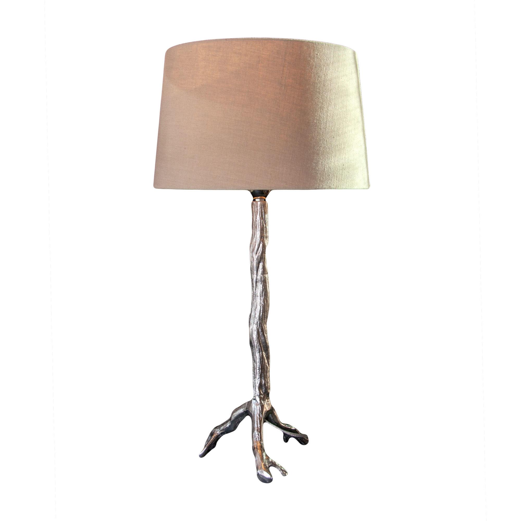 Twig Lamp nickel twig lamp base - baker rhodes