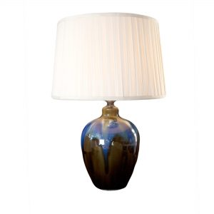 Blue Glazed Ceramic Lamp Base
