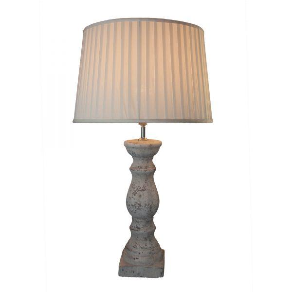 Stone Effect Pillar Lamp Base