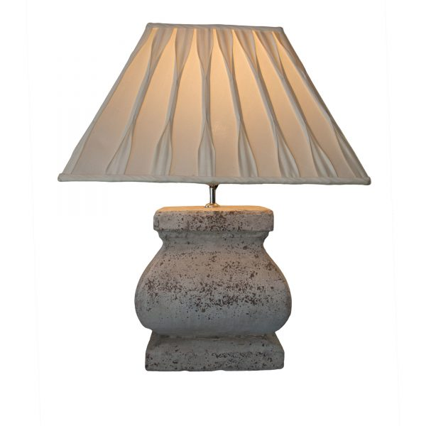 Stone Effect Large Square Lamp Base