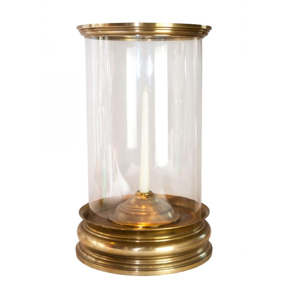 Eastnor Brass Cylinder Hurricane Lamp