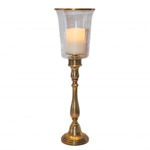 Groombridge Brass Hurricane Lamp