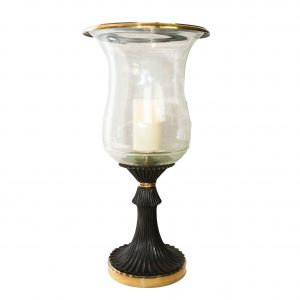 Hammerwood Antiqued Brass Hurricane Lamp