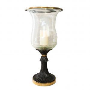 Hammerwood Antiqued Brass Hurricane Lamp