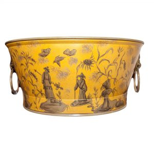 Low Planter Ochre Chinese Design