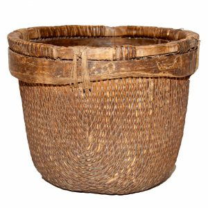 Large 'Antiqued' Reed Basket