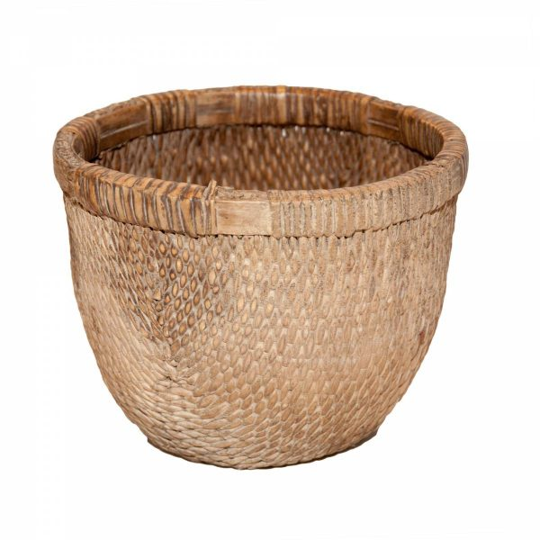 Small 'Antiqued' Reed Basket
