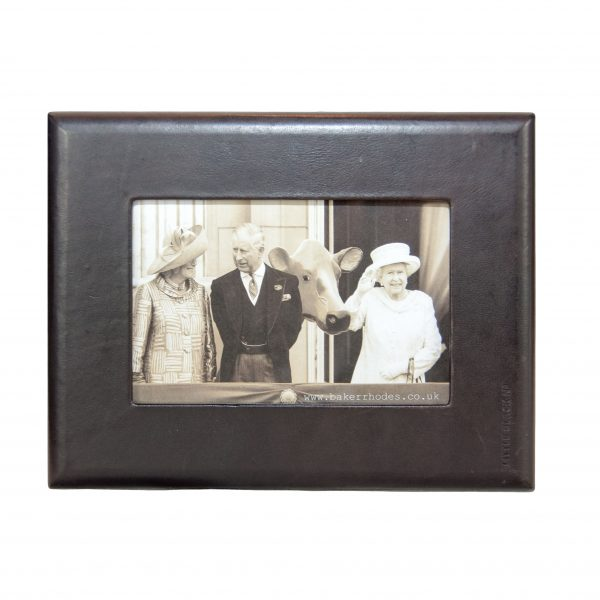 Black Leather Picture Frame 6x4