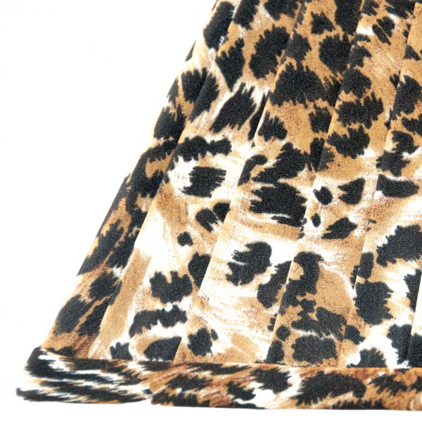 Bodium Knife Pleated Square Leopard Lampshade
