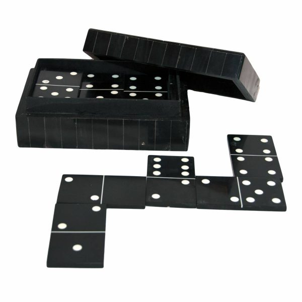 Black Horn Domino Box