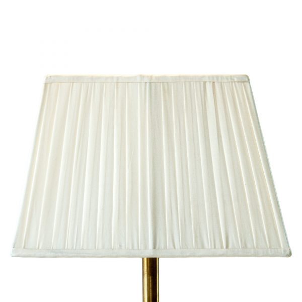 Heveningham Knife Pleated Oblong Cream Lampshade