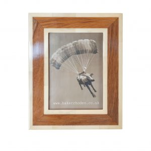 Handmade Horn and Teak Picture Frame 5x7