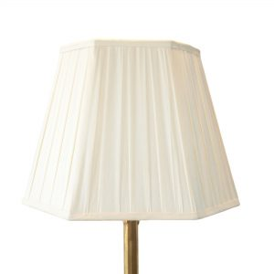 Minterne Box Pleated Hexagon Cream Lampshade