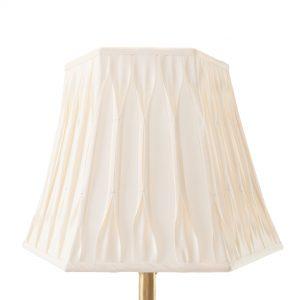 Minterne Pinch Pleated Hexagon Cream Lampshade
