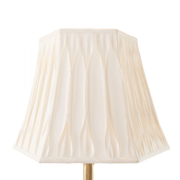 Minterne Pinch Pleated Hexagon Cream Lampshade