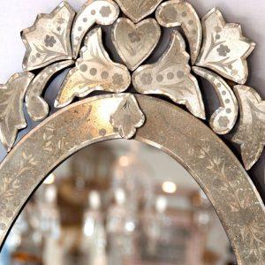 Oval Venetian Style Mirror