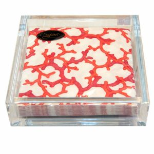 Large Clear Perspex Napkin Holder