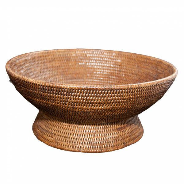 Natural Handwoven Rattan Fruit Basket