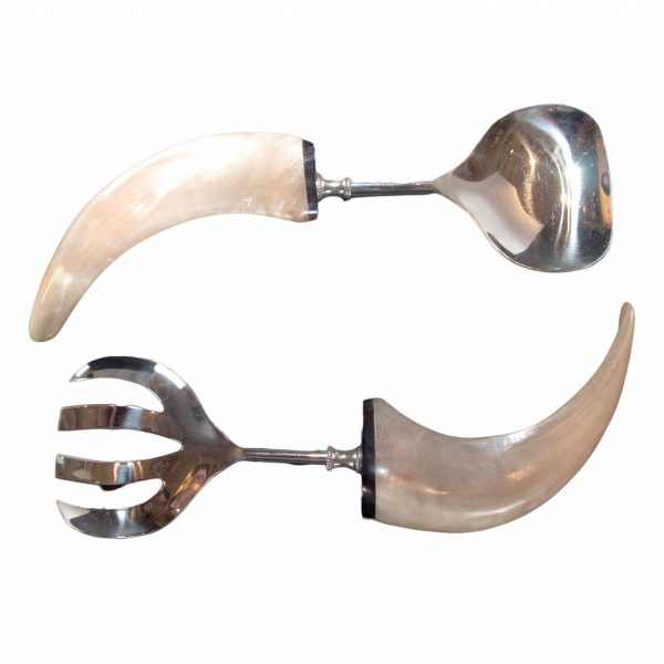 Pair of Horn Handled Salad Servers