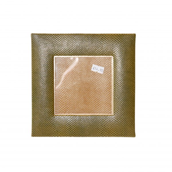 Faux Snakeskin Picture Frame 4x4 (various colours)