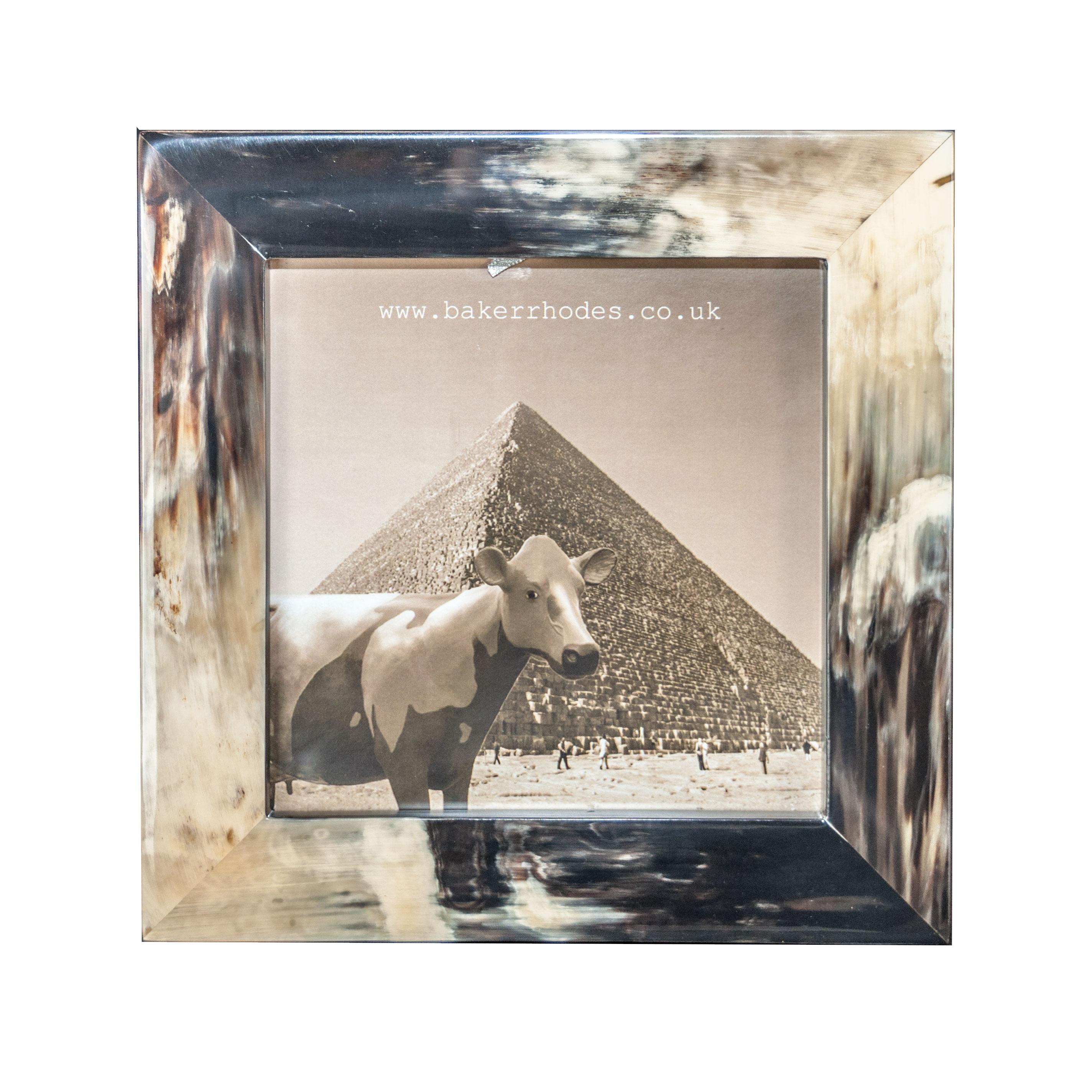 Handmade Square Flamed Horn Picture Frame 7×7 | Baker Rhodes