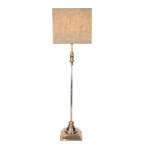 Chatsworth Tall Silver Square Column Lamp