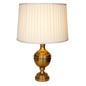 Chiddington Brass Urn Lamp on Round Base