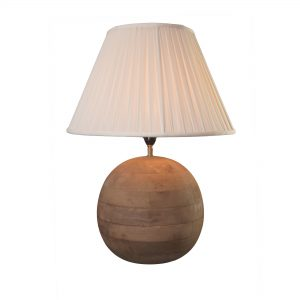 Teak Spherical Lamp Base