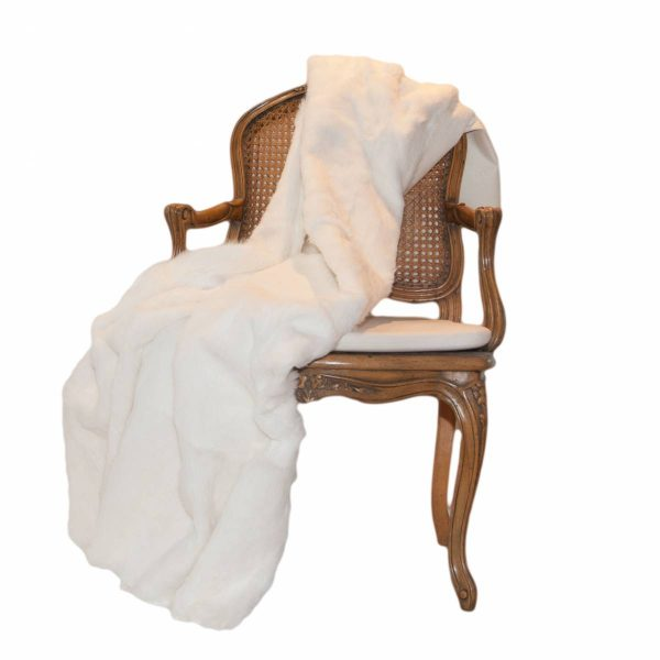 White Rabbit Fur Throw