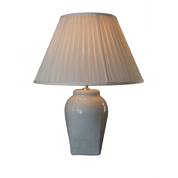White Rustic Ceramic Lamp Base