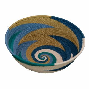 Ocean Large Round Handwoven Telephone Wire Basket