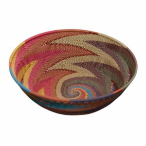 Sunset Large Round Handwoven Telephone Wire Basket