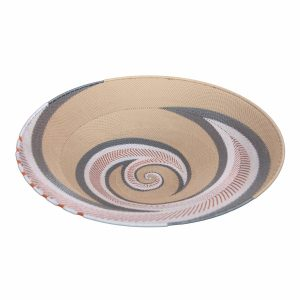 Moonshadow Ex-Large Round Handwoven Telephone Wire Platter